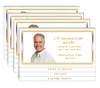 Gold 8-Sided Graduated Bottom Funeral Program Design & Print (Pack of 25)