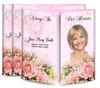 Pink Roses Gatefold Funeral Program Design & Print (Pack of 25)