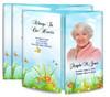 Peaceful Butterflies Gatefold Funeral Program Design & Print (Pack of 25)