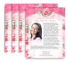 Precious No Fold Funeral Flyer Design & Print (Pack of 25)