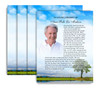 Treasure No Fold Funeral Flyer Design & Print (Pack of 25)