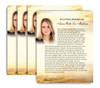 Shine No Fold Funeral Flyer Design & Print (Pack of 25)