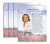 Seasons No Fold Funeral Flyer Design & Print (Pack of 25)