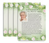 Garden No Fold Funeral Flyer Design & Print (Pack of 25)
