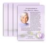 Beloved No Fold Funeral Flyer Design & Print (Pack of 25)