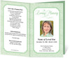 green Cambria Funeral Program Template