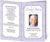lavender Cambria Funeral Program Template