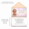 Tangerine Envelope Fold Funeral Program Design & Print (Pack of 25)