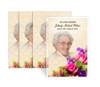 Golden Bouquet Funeral Prayer Card Design & Print (Pack of 25)
