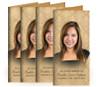 Annabelle Long Fold Funeral Program Design & Print (Pack of 25)