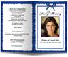 blue Crimson Funeral Program Template