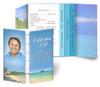 Tropical Gatefold/Graduated Combo Funeral Program Design & Print (Pack of 25)