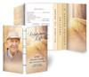 Crossing Gatefold/Graduated Combo Funeral Program Design & Print (Pack of 25)