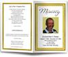 gold Gallant Funeral Program Template
