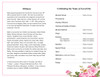 July Funeral Program Template
