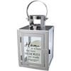 Personalized Home Memories Silver Metal Lantern
