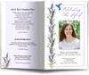 Hummingbird Funeral Program Template
