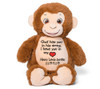 Smiles Monkey Memorial Stuffed Animal/Urn