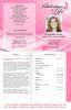 Awareness 4-Sided Graduated Funeral Program Template full view
