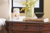 Flourish Leaves Flameless LED Memorial Candle example on shelf