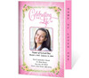 Christie 4-Sided Graduated Funeral Program Template