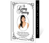 Cadence 4-Sided Graduated Funeral Program Template