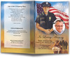 Policeman funeral program template design