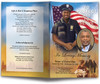 African American policeman funeral program template design