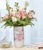 memorial vase with flowers