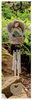 Memorial Wind Chime Dad Heart Guardian Angel sample out in the garden