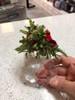Mistletoe Cardinal Acrylic Sparkling Ornament actual hand held