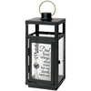 Dad Your Wings Were Ready Black Memorial Lantern With LED Candle