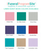 Absent From Body Landscape Linen Funeral Guest Book colors