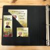 Leatherette Suede Garland 3-Ring Binder Funeral Guest Book inside pocket sleeve