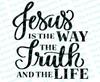 Jesus Is The Way Bible Verse Word Art