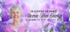 Lavender Flowers Custom Casket Head Panel Insert