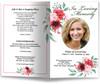 Carrara Watercolor Funeral Program Template