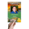 Texas Funeral Program Template front view