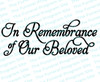 In Remembrance of Our Beloved Funeral Program Title