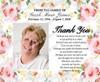 Alyssa Social Media Funeral thank you Announcement Templates