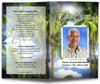 Paradise Funeral Program Template