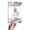 Car Mechanic Letter Funeral Program Template front view
