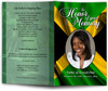 Jamaica Funeral Program Template