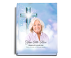 Adoration Perfect Bind 8x10 Funeral Guest Book with photo portrait