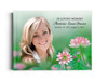Ambrosia Perfect Bind 8x10 Funeral Guest Book landscape with photo