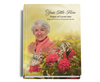 Bouquet Perfect Bind 8x10 Funeral Guest Book with photo