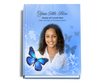 Butterfly Perfect Bind Funeral Guest Book 8x10 with photo