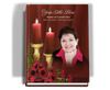 Candlelight Perfect Bind Funeral Guest Book 8x10 with photo