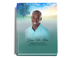 Destiny Perfect Bind Funeral Guest Book 8x10 with photo