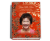 Dynasty Perfect Bind Funeral Guest Book 8x10 with photo